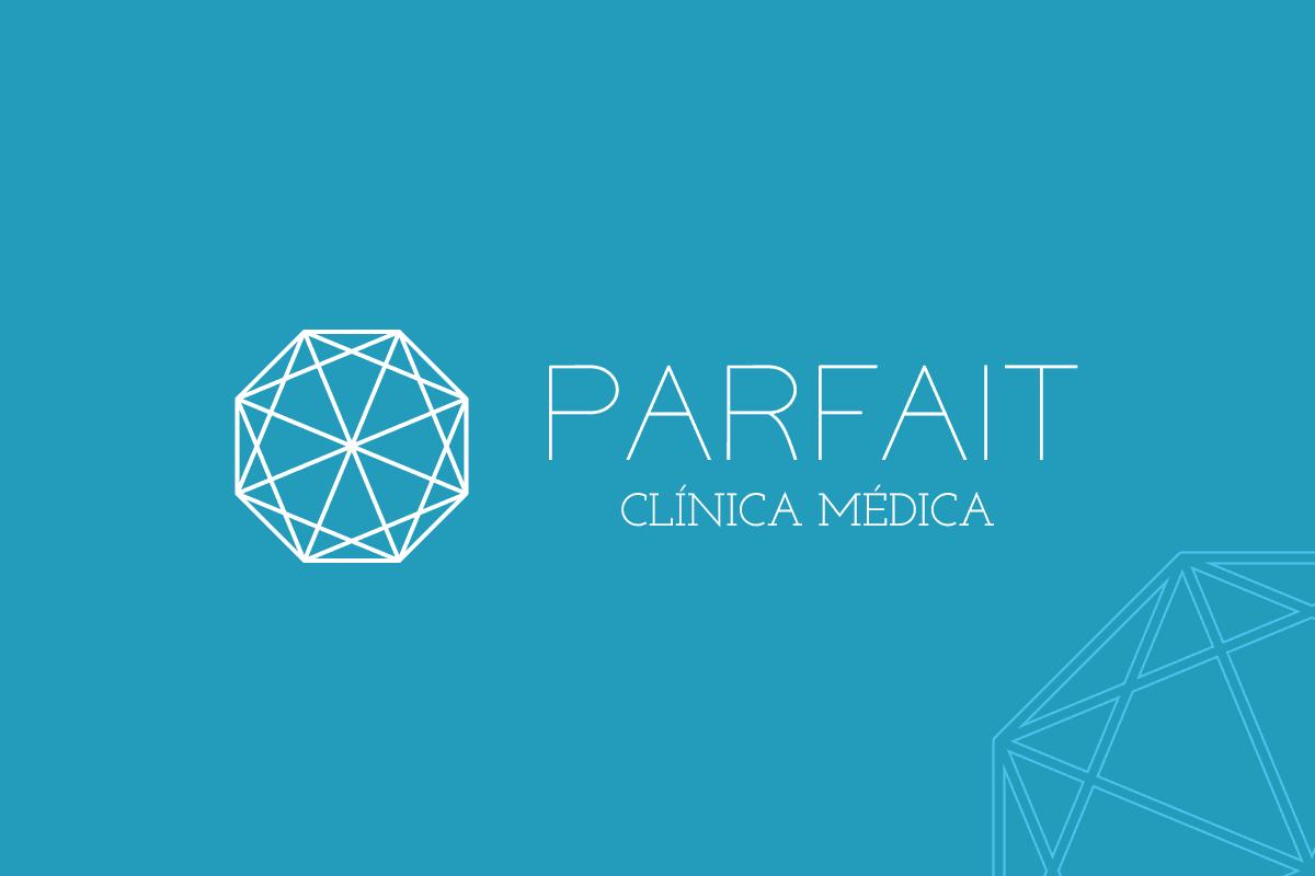 Clínica médica Parfait - desenvolvimento de branding, marca, gestão de redes sociais e criação de site