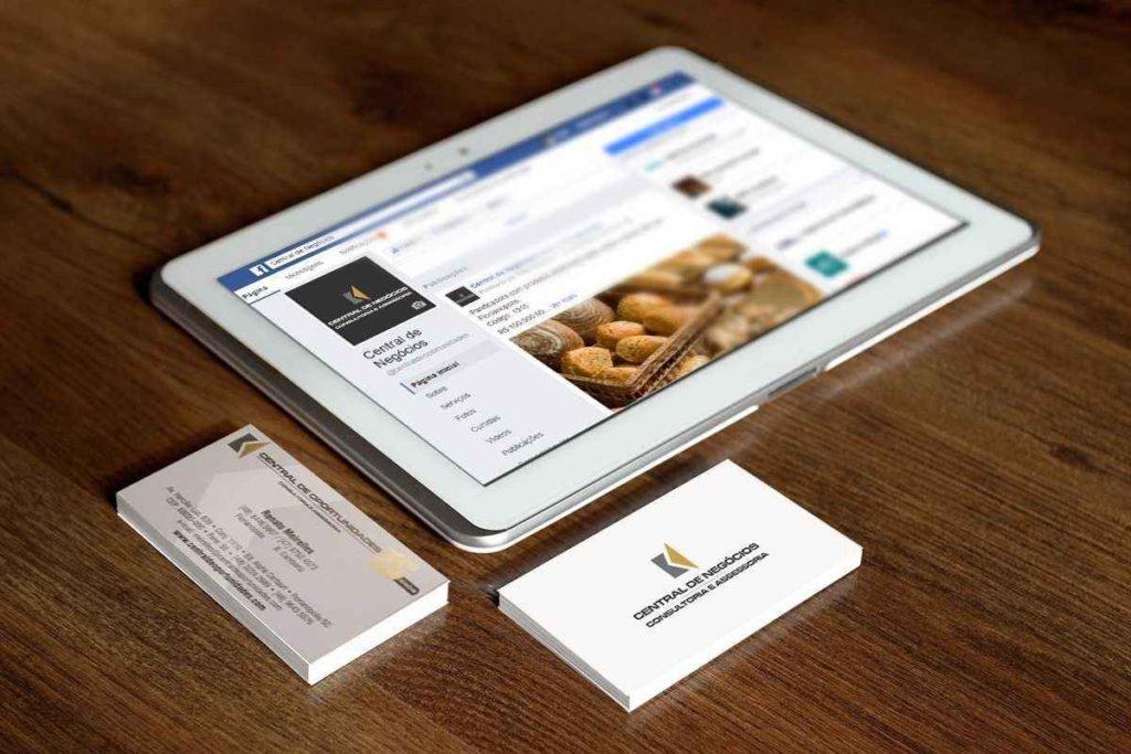 design gráfico e site para central de negócios
