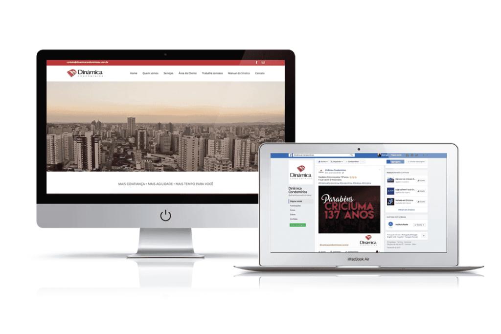 criação de site para dinâmica condomínios