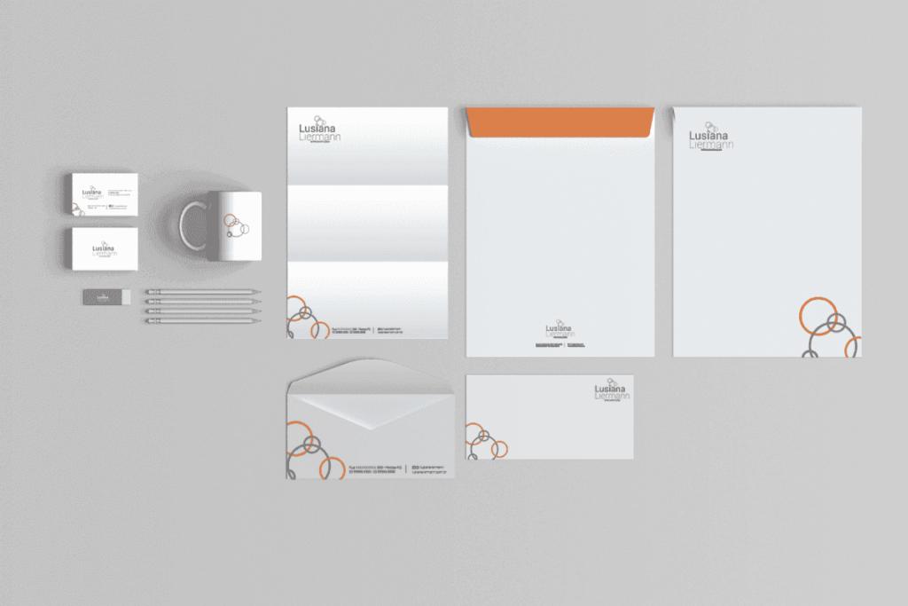 desenvolvimento de materiais gráficos e marca para lusiana nutricionista