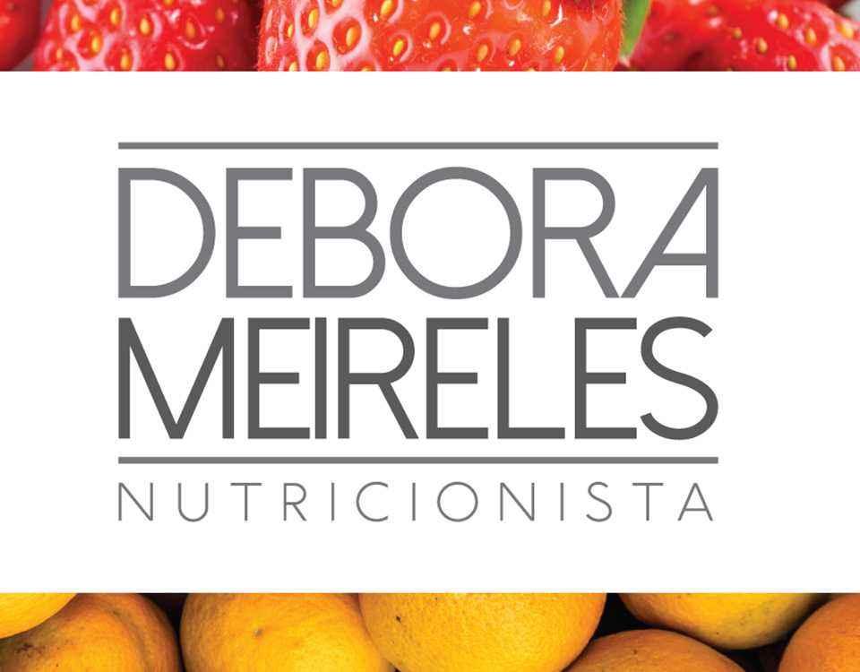 design gráfico feito para Débora Meireles Nutricionista em porto alegre