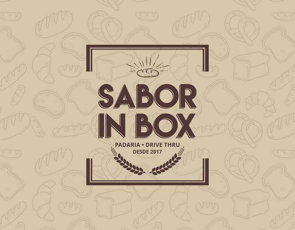 design gráfico feito para padaria sabor in box