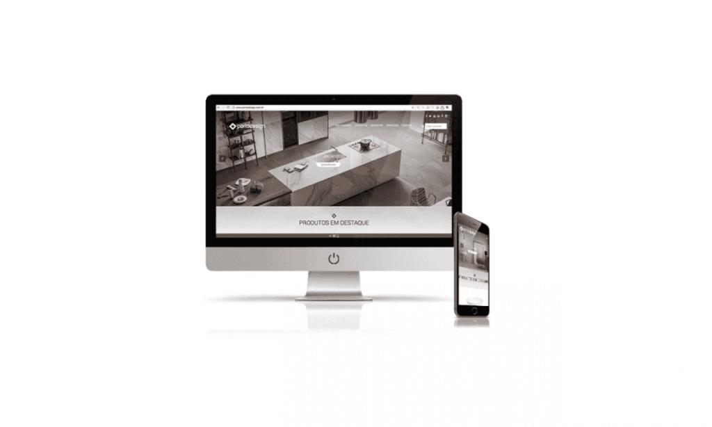 desenvolvimento de site para porto design